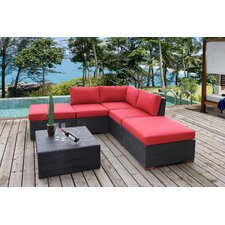 Scholtz Corner Sectional 6 Piece Deep Seating Group with Cushion