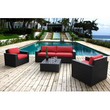 Scholtz 5 Piece Deep Seating Group with Cushion