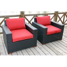 Find Scholtz Deep Seating Chair with Cushion (Set of 2)