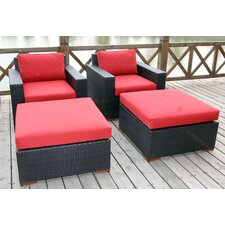 Scholtz 4 Piece Deep Chair Seating Group with Cushion