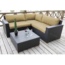 Scholtz 4 Piece Lounge Seating Group with Cushion