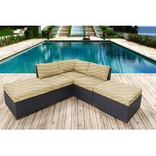 Scholtz 5 Piece Lounge Seating Group with Cushion