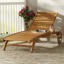 Dracaena Balau Wood Patio Chaise Lounge