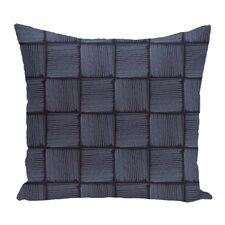 Brisa Basketweave Geometric Outdoor Throw Pillow