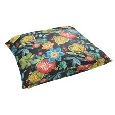 Mira Floral Floral Indoor/Outdoor Floor Pillow