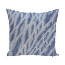 Grand Ridge Shibori Stripe Geometric Outdoor Throw Pillow