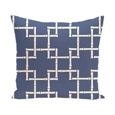 Connelly Bamboo Geometric Outdoor Throw Pillow