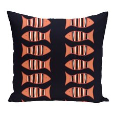 Grand Ridge Something's Fishy Coastal Outdoor Throw Pillow