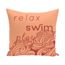 Grand Ridge Mellow Mantra Word Outdoor Throw Pillow