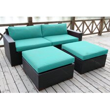 Scholtz 4 Piece Deep Seating Group with Cushion
