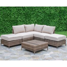 Brookfield 6 Piece Arrow Deep Seating Group with Cushion