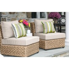 St. Johns Armless Chair with Cushion (Set of 2)