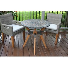 Great price Shelburne Eucalyptus and Metal 3 Piece Bistro Set