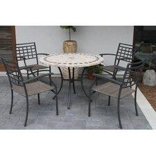 Sabornton Round Marble 5 Piece Dining Set