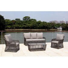 Trueman 4 Piece Lounge Seating Group with Cushion