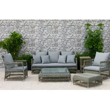 Read Reviews Fotau 6 Piece Deep Seating Group with Cushion