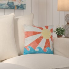 Sunbeams Geometric Outdoor Throw Pillow