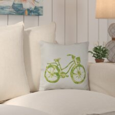 Life Cycle Geometric Outdoor Throw Pillow