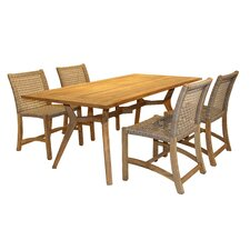 Maryland Nautical Teak 5 Piece Dining Set