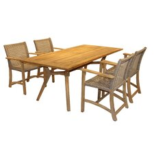 Wonderful Shearwater Nautical Teak 5 Piece Dining Set