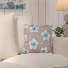 Hibiscus Blooms Outdoor Throw Pillow