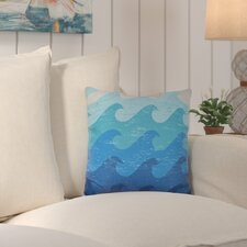 Deep Sea Geometric Outdoor Throw Pillow