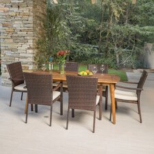 Spacial Price Cleveland 7 Piece Dining Set with Cushions