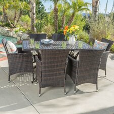 Terre-de-Haut Outdoor 7 Piece Dining Set with Cushions