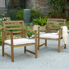 Vitsada Outdoor Arm Chair with Cushion (Set of 2)