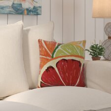 Costigan Lemonade Geometric Print Outdoor Throw Pillow