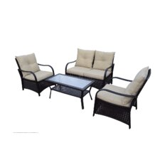 Cheltenham 4 Piece Deep Seating Group with Cushions