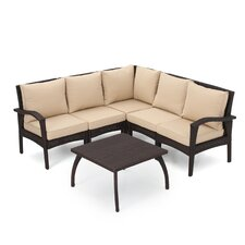Cheap Timberwyck V-Shape 6 Piece Sectional Seating Group with Cushion