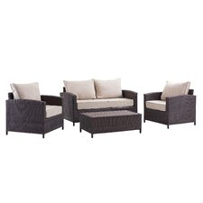 #2 Petunia 4 Piece Deep Seating Group with Cushion