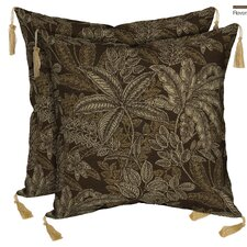 Modern Palmetto Zebra Reversible Outdoor Throw Pillow (Set of 2)