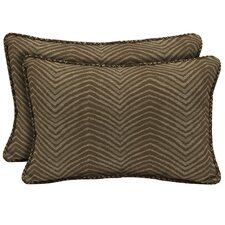 Zebra Outdoor Lumbar Pillow (Set of 2)