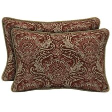 Venice Reversible Outdoor Lumbar Pillow (Set of 2)