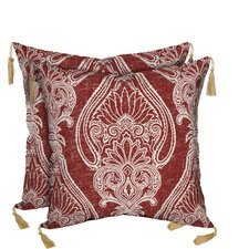 Venice Delhi Paisley Reversible Outdoor Throw Pillow (Set of 2)