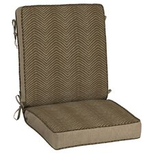 Zebra Outdoor Lounge Chair Cushion