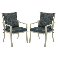 Valencia Royal Zanzibar Stacking Dining Arm Chair with Cushion (Set of 2)