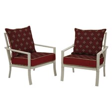 Valencia Geo Floral Berry Bombay Outdoors Chair (Set of 2)