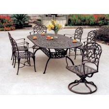 Modern Fairmont 7 Piece Dining Set with Cushions
