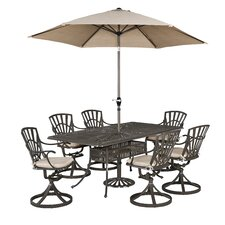 Frontenac 9 Piece Dining Set with Cushions