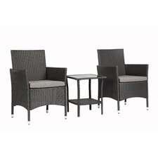 Spacial Price 3 Piece Dining Set with Cushions