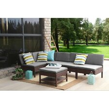 Complete Patio Garden 6 Piece Deep Seating Group Set with Cushions