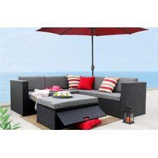 Complete Patio Garden 4 Piece Deep Seating Group Set with Cushion