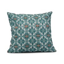 Rafia Beach Tile Indoor/Outdoor Throw Pillow