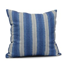 Rafia Sea Lines Indoor/Outdoor Throw Pillow