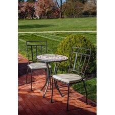 Harlingen 3 Piece Bistro Set with Cushion