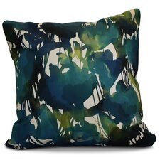 Echo Abstract Floral Outdoor Throw Pillow