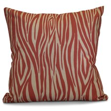 Echo Wood Striped Geometric Outdoor Throw Pillow